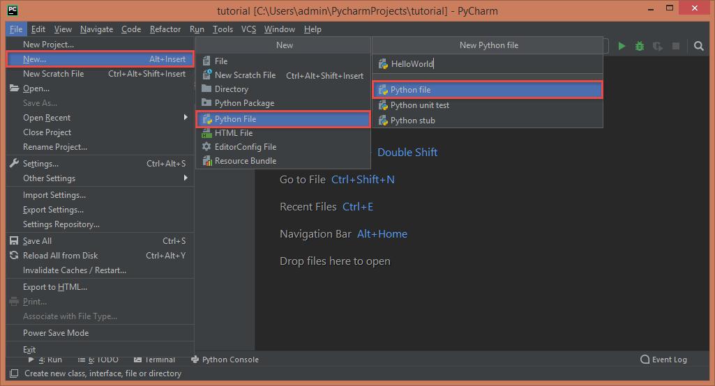 Creating a Python File