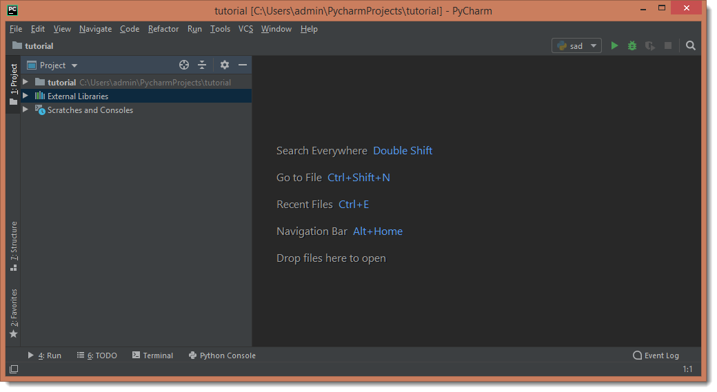 PyCharm IDE First Project
