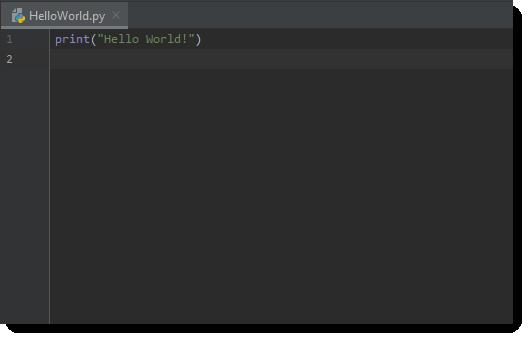 Python Hello World Source Code